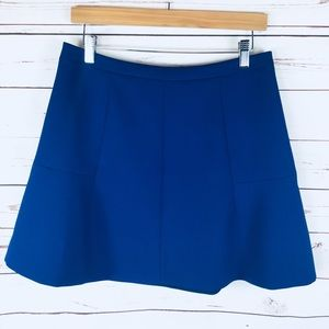 J. Crew Bright Blue Lined Skirt. Size 8